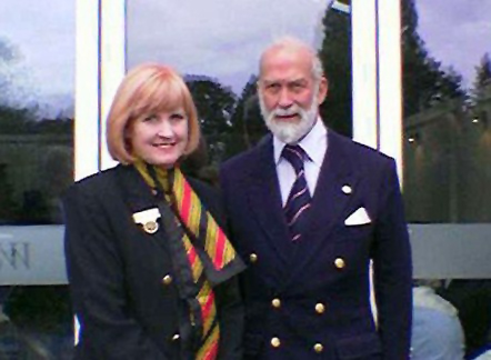 Prince Michael of Kent with Commodore Wendy Hurrell